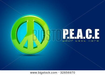 illustration of peace symbol on motivational background