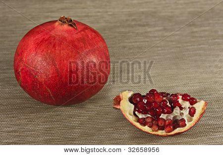 ripe and juicy pomegranate