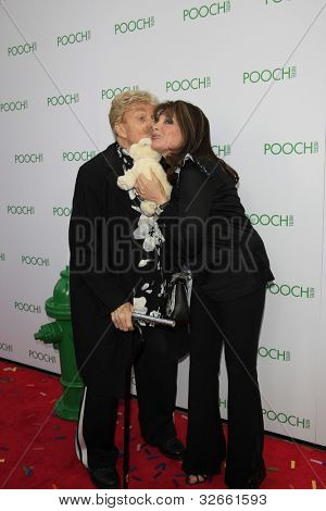 LOS ANGELES, CA - MAY 3: Kate Linder, Rip Taylor at the grand opening of the Pooch Hotel on May 3, 2012 in Hollywood, Los Angeles, California.