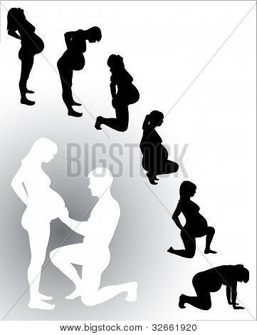 Silhouette Pregnant Woman