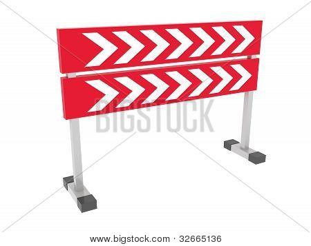 Dirección punteros aisladas sobre fondo blanco