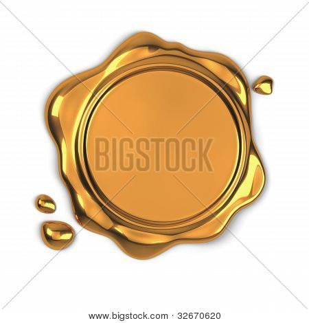 Golden Wax Seal
