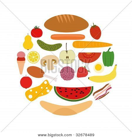 Foods In Circle