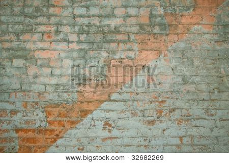 Vintage Staircase Brick Impression
