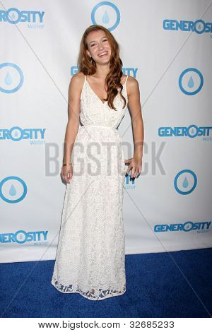 LOS ANGELES - MAY 4:  Nathalia Ramos arrives at the 4th Annual Night of Generosity Gala Event at Hollywood Roosevelt Hotel on May 4, 2012 in Los Angeles, CA