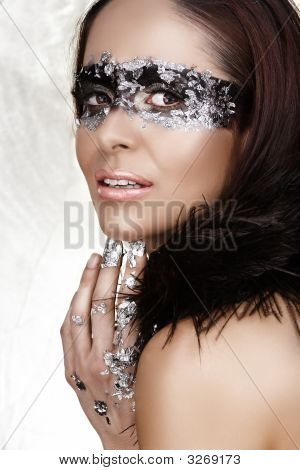 Beauty With Silver Leaf