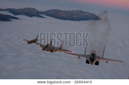 MiG-29 and L-39