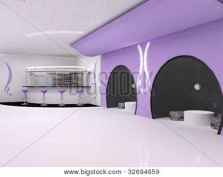 Cafe Bar Interior, Empty Space