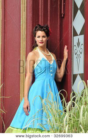 Elegant Retro Fashion Lady