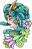 Ancient Greek Mythological Character, Medusa Gorgon, Illustration, Design poster
