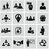 stock photo of hierarchy  - Human resources and management icons set - JPG