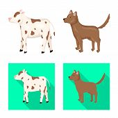 Vector Design Of Breeding And Kitchen Icon. Collection Of Breeding And Organic Stock Symbol For Web. poster