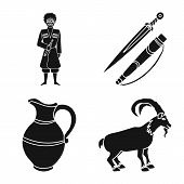 Isolated Object Of Heritage And Originality Icon. Set Of Heritage And Traditions Vector Icon For Sto poster