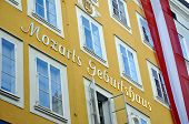 foto of mozart  - Birthplace of the famous composer Wolfgang Amadeus Mozart in Salzburg Austria - JPG