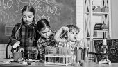 School Chemistry Laboratory. Back To School. Science And Education. Chemistry Lab. Happy Children. L poster