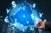 Currency Exchange Global Foreign Money Finance - International Forex Market With Different World Cur poster