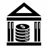 Money Deposit Bank Icon. Simple Illustration Of Money Deposit Bank Vector Icon For Web Design Isolat poster