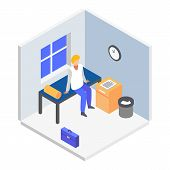 Rest Room Icon. Isometric Of Rest Room Vector Icon For Web Design Isolated On White Background poster