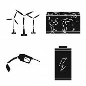 Vector Design Of Climate And Alternative Sign. Set Of Climate And Nature Vector Icon For Stock. poster