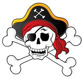 stock photo of buccaneer  - Pirate skull theme 1  - JPG