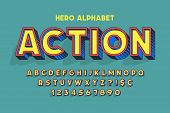 Trendy 3d Comical Font Design, Colorful Alphabet, Typeface. poster