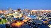 foto of southwest  - Downtown El Paso Texas skyline seen just after sunset - JPG