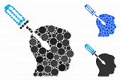 Intellect Screwdriver Tuning Mosaic For Intellect Screwdriver Tuning Icon Of Small Circles In Variab poster