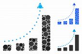 Bar Chart Positive Trend Composition For Bar Chart Positive Trend Icon Of Round Dots In Different Si poster