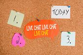 Word Writing Text Live Chat Live Chat Live Chat. Business Concept For Talking With Showing Friends R poster
