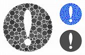 Problem Mosaic For Problem Icon Of Round Dots In Variable Sizes And Color Tinges. Vector Round Dots  poster