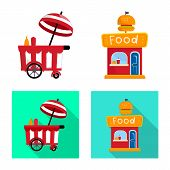 Vector Design Of Amusement And Store Symbol. Collection Of Amusement And Urban Stock Vector Illustra poster