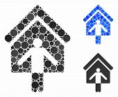 House Owner Wellcome Mosaic Of Small Circles In Various Sizes And Shades, Based On House Owner Wellc poster