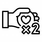 Win Bonus Loyalty Icon. Outline Win Bonus Loyalty Vector Icon For Web Design Isolated On White Backg poster