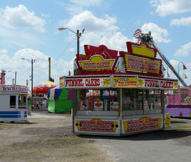 stock photo of carnival ride  - Concession stand - JPG