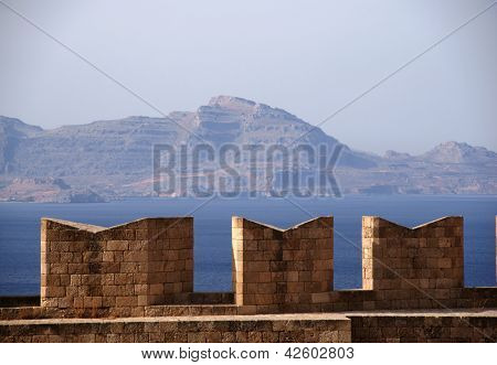 battlements on Acropolis
