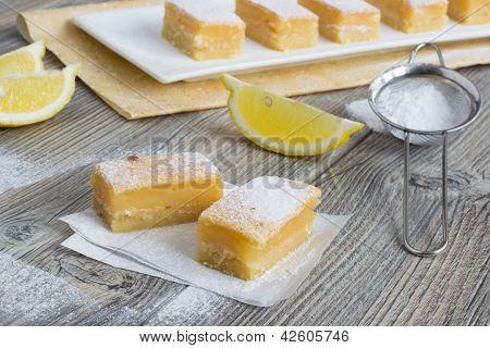 Lemon Bars - Traditional American Sweets