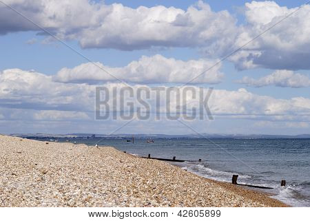 Beach At Selsey. West Sussex. UK