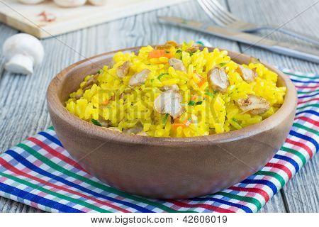 Vegetarian Rice With Mushrooms