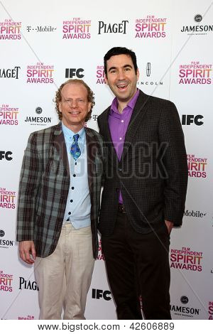 LOS ANGELES - FEB 23:  Bruce Cohen, Joe Gordon attend the 2013 Film Independent Spirit Awards at the Tent on the Beach on February 23, 2013 in Santa Monica, CA