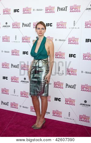 LOS ANGELES - FEB 23:  Olga Sorokina attends the 2013 Film Independent Spirit Awards at the Tent on the Beach on February 23, 2013 in Santa Monica, CA