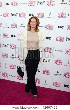 LOS ANGELES - FEB 23:  Sharon Lawrence attends the 2013 Film Independent Spirit Awards at the Tent on the Beach on February 23, 2013 in Santa Monica, CA