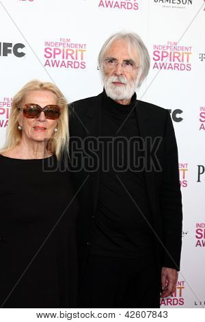LOS ANGELES - FEB 23:  Michael Haneke attends the 2013 Film Independent Spirit Awards at the Tent on the Beach on February 23, 2013 in Santa Monica, CA