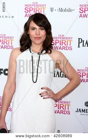 LOS ANGELES - FEB 23:  Clea Duvall attends the 2013 Film Independent Spirit Awards at the Tent on the Beach on February 23, 2013 in Santa Monica, CA