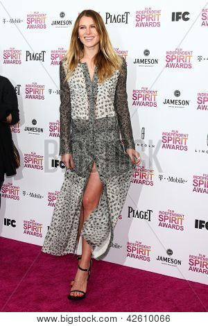 LOS ANGELES - FEB 23:  Dree Hemingway attends the 2013 Film Independent Spirit Awards at the Tent on the Beach on February 23, 2013 in Santa Monica, CA