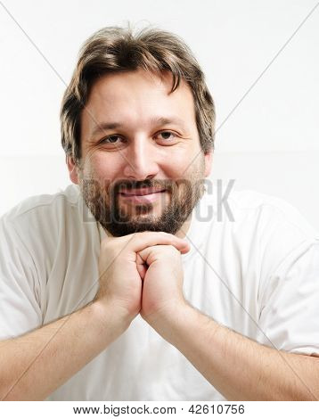Portrait of 30 years old man with beard