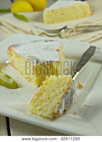 Lemon biscuit cake