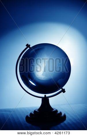 Blue Glass Globe