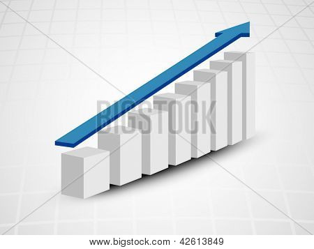 Abstract 3D statistics, business growth background. EPS 10.