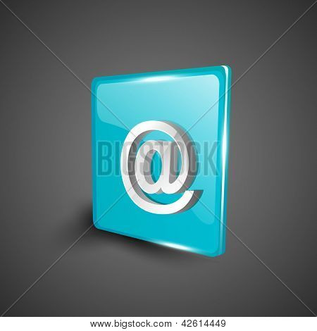 Glossy 3D web 2.0 email address 'at' symbol icon set. EPS 10.