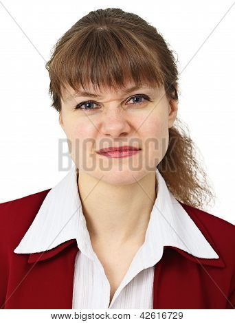 Woman Pulls A Face In Upset Grimace
